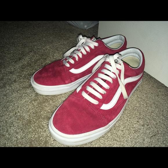 Vans Shoes | Red Pig Suede Vans 85